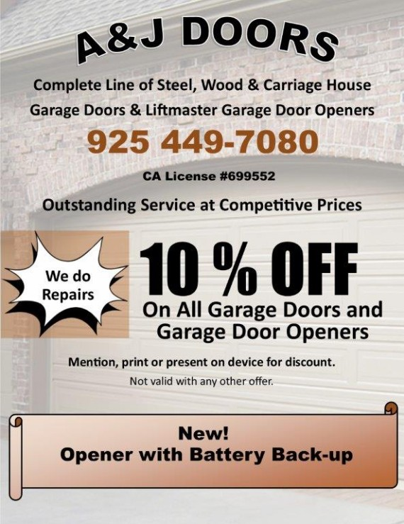 Kiss Coupon To Save Garage Doors And Garage Door Openers At A J