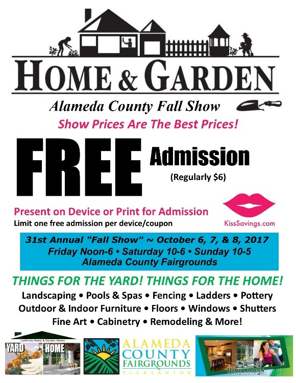 Alameda County Spring Home Show Coupon Free Admission