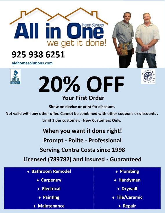 Coupon to save at All In One Home Solutions