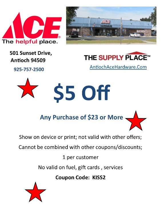 Coupon to save at Antioch Ace Hardware