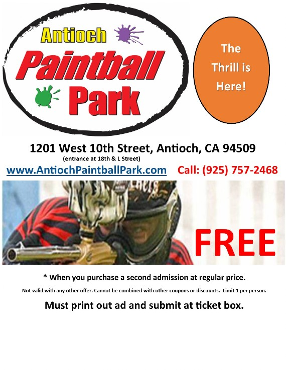 Antioch Paintball Park Coupon