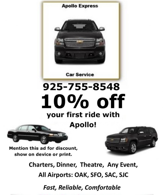 Apollo Car Service Coupon Contra Costa County