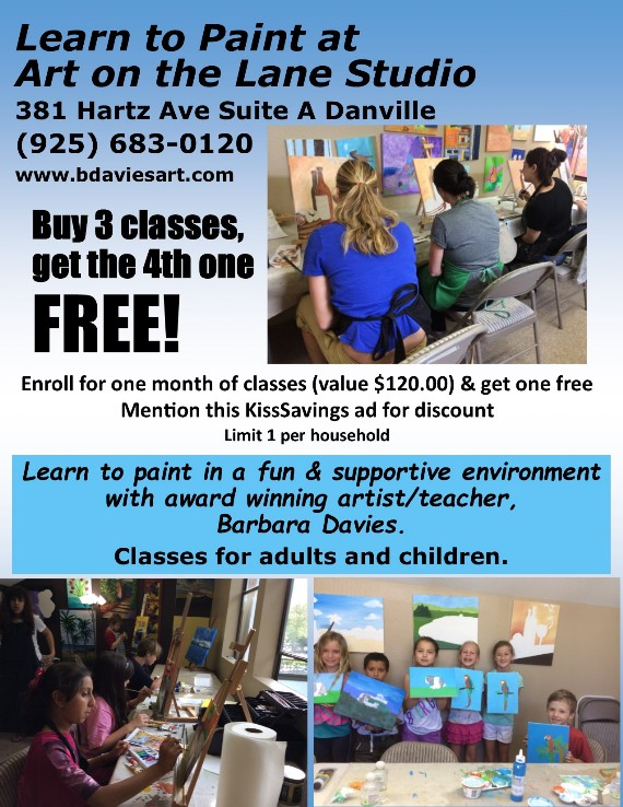 Art on the Lane Studio in Danville Learn to Paint