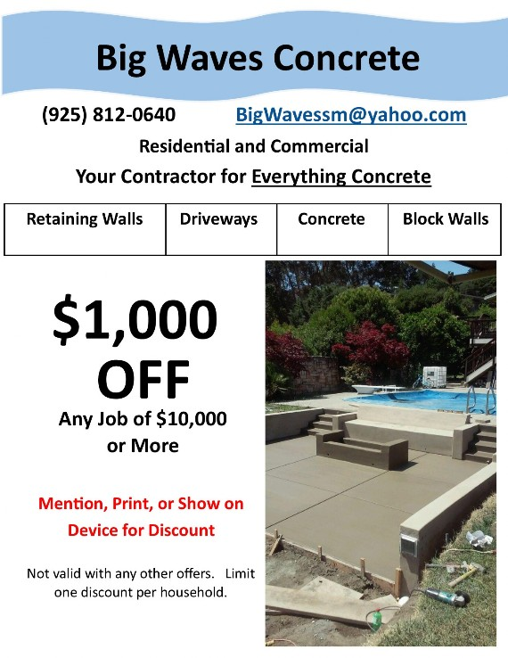 Big Waves Concrete Coupon