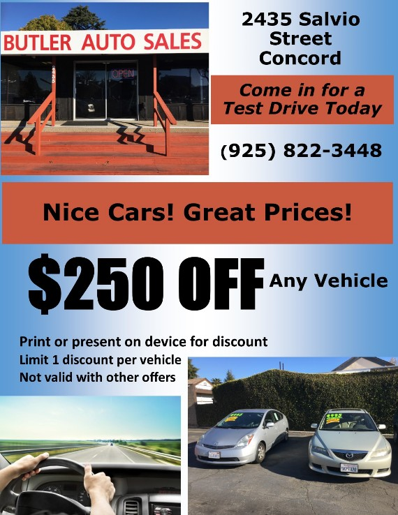 KissSavings  Coupon Kiss to get $100 OFF any vehicle at Butler Auto Sales Concord