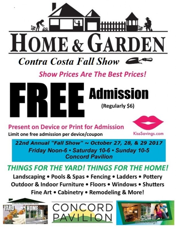 Contra Costa  County Spring Home Show Coupon Free Admission