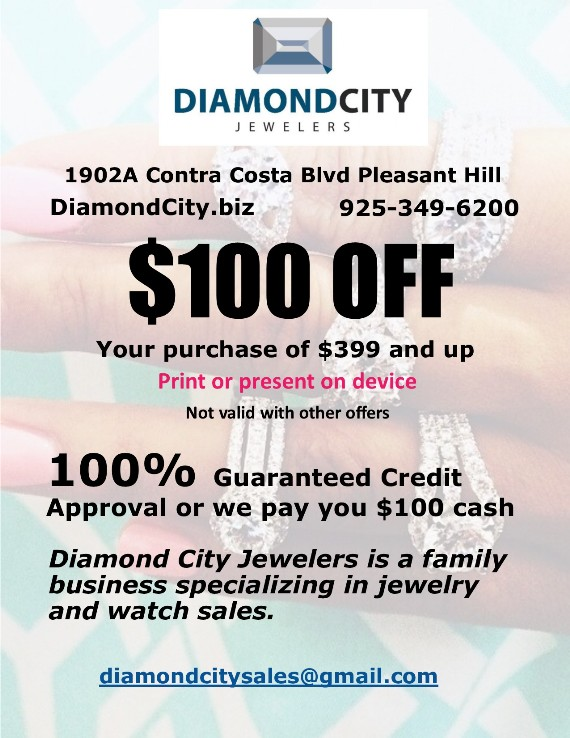 Diamond City Jewelers Pleasant Hill Coupon
