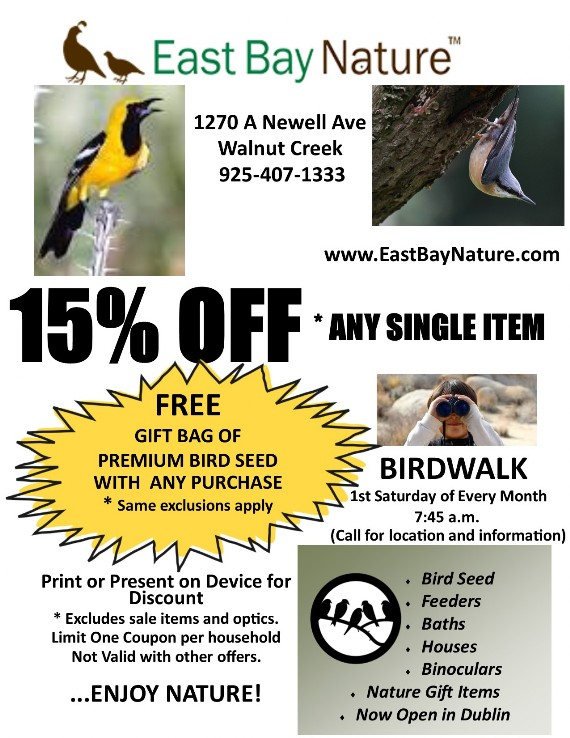 East Bay Nature Walnut Creek Coupon