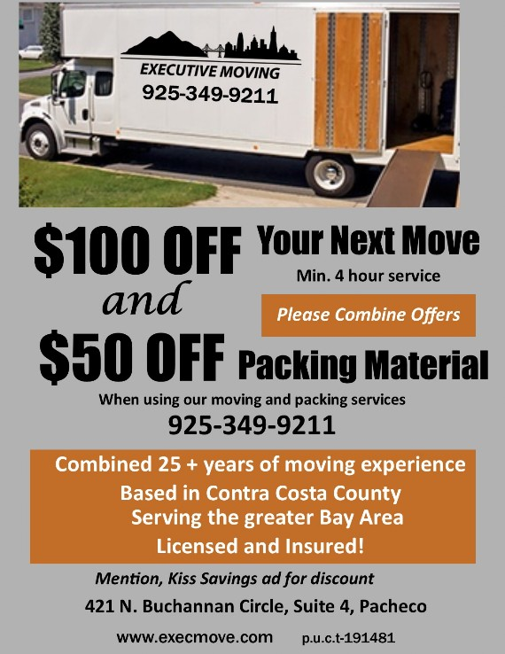 Executive Moving Coupon Contra Costa