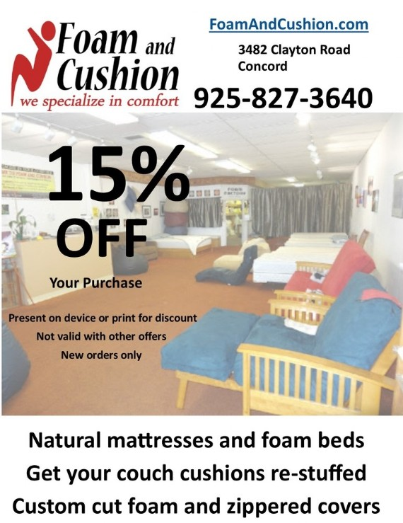 Coupon to save at Foam and Cushion Coupon