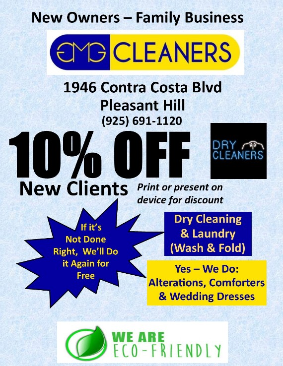 GMG Cleaners Pleasant Hill Coupon