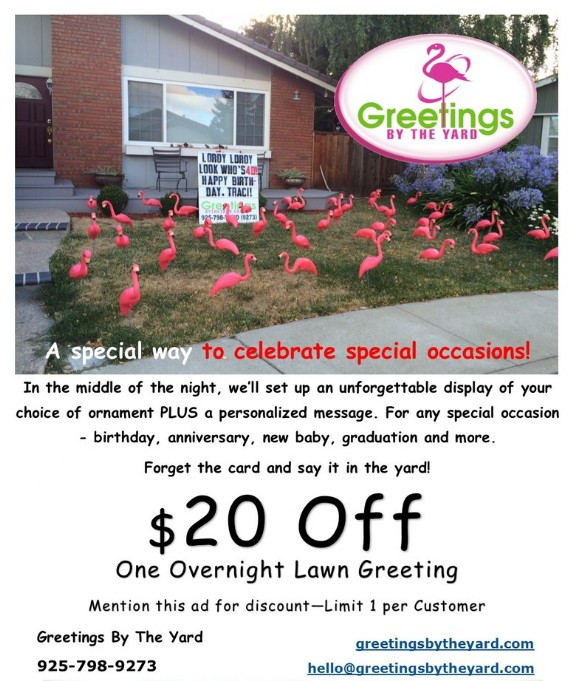 Greetings by the Yard Coupon Contra Costa County