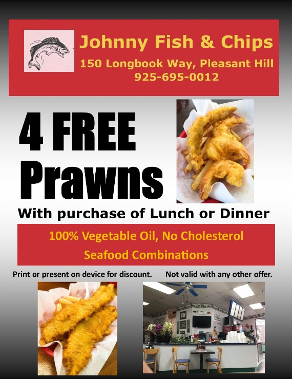 Johnny Fish and Chips Pleasant Hill Coupon