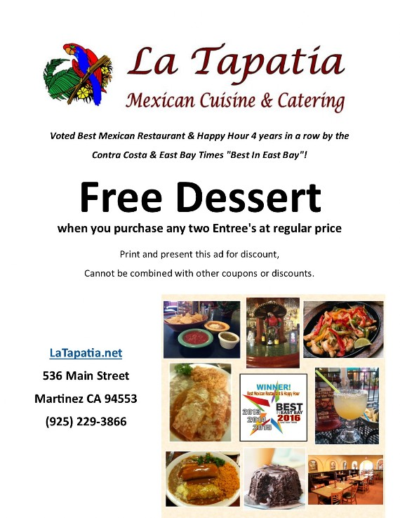 Coupon to save at La Tapatia Martinez