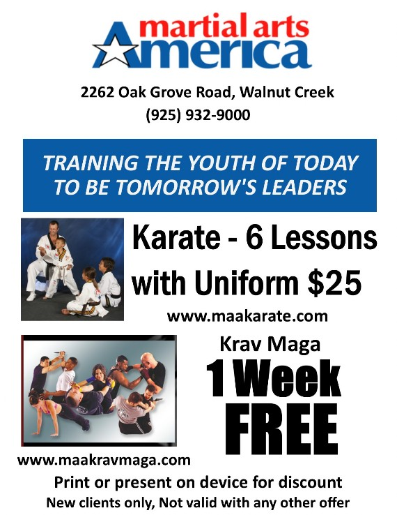 Martial Arts America Citrus Marketplace Walnut Creek Coupon