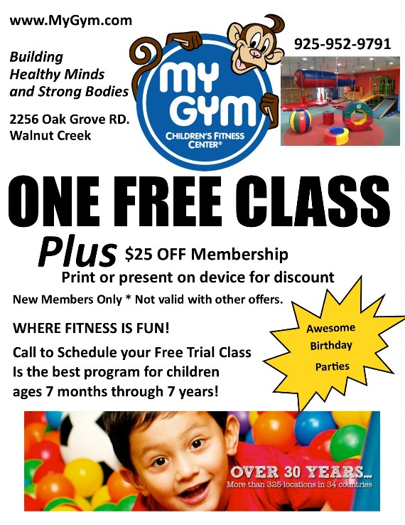 My Gym Citrus Marketplace Walnut Creek Coupon