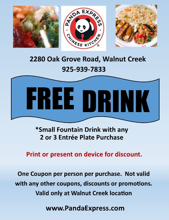 Panda Express Citrus Marketplace Walnut Creek Coupon