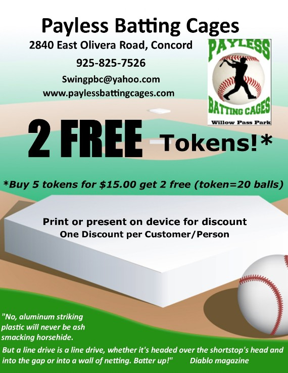 Payless Batting Cages Coupon Concord