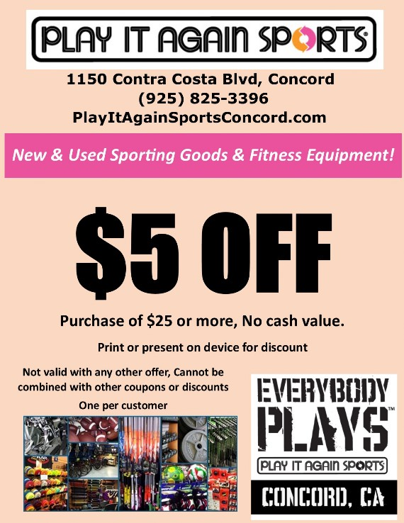 Play it Again Sports Concord Coupon