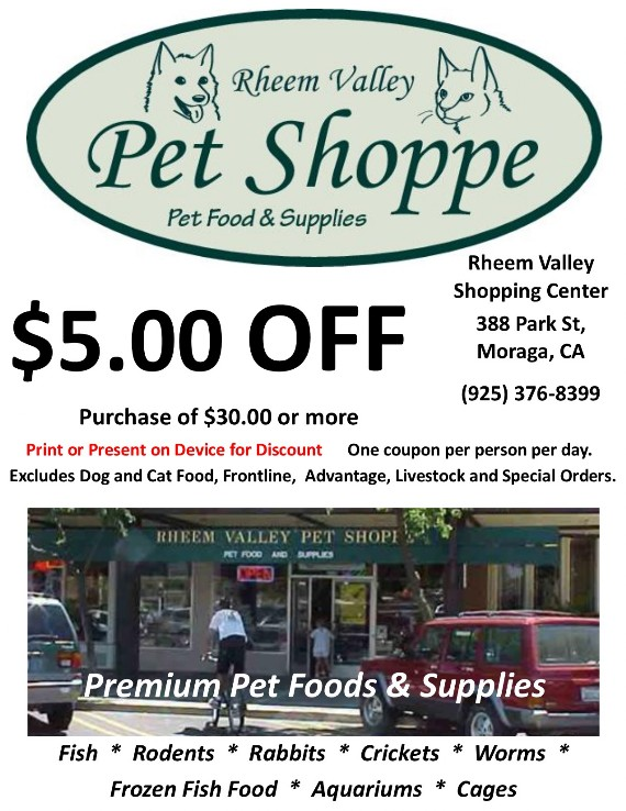 Rheem Valley Pet Shoppe Moraga