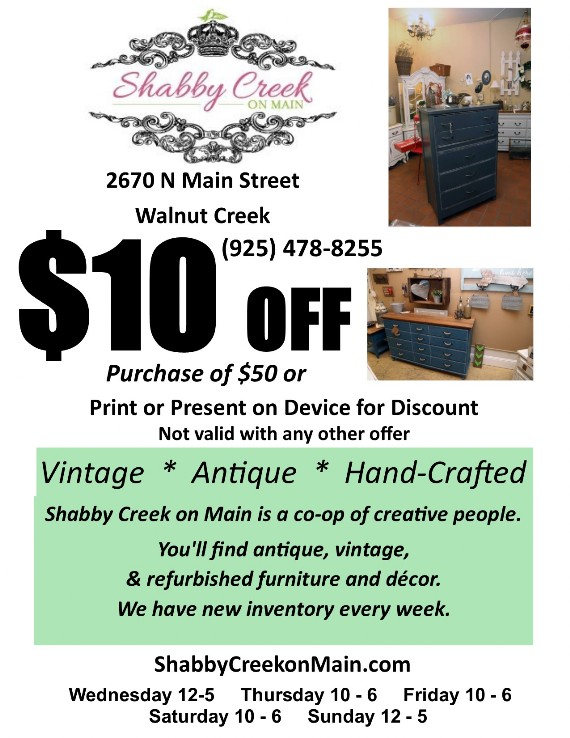 Shabby Creek on Main Walnut Creek Coupon