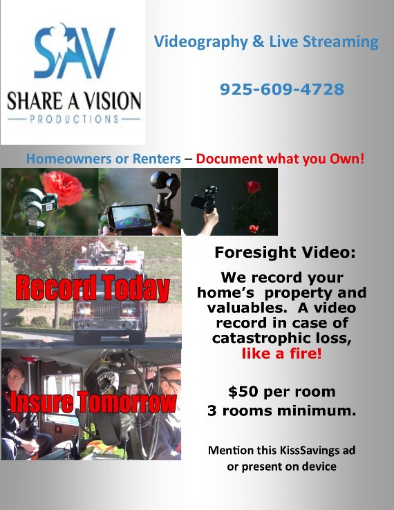 Share A Vision Productions coupon - Foresight Video