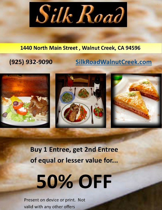 Silk Road Walnut Creek Coupon
