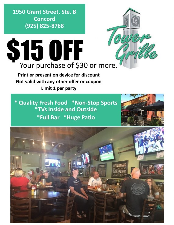 Tower Grille Concord Coupon