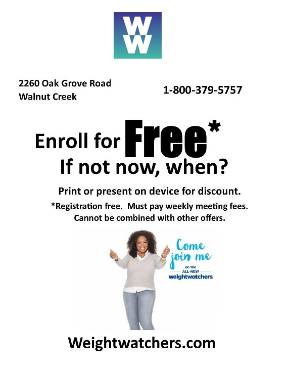 Weight Watchers Citrus Marketplace Walnut Creek coupon