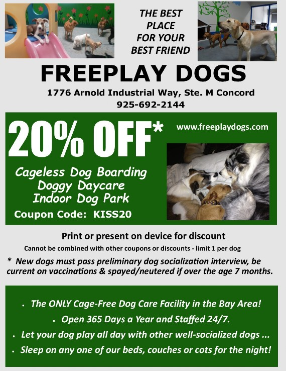 Freeplay Dogs Concord Coupon